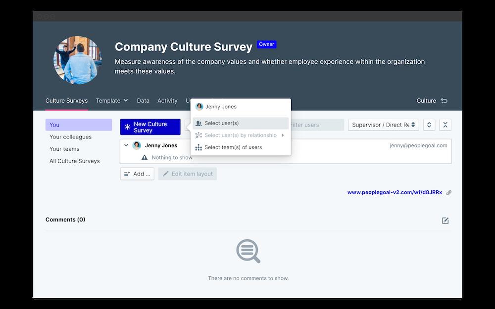 company culture survey launch