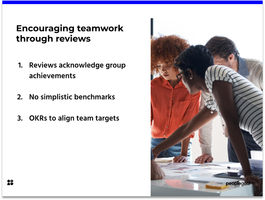 How performance reviews can help inspire teamworking