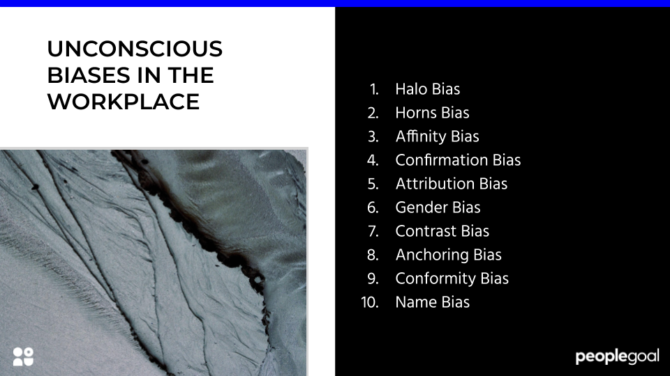 UNCONSCIOUS BIASES IN THE WORKPLACE