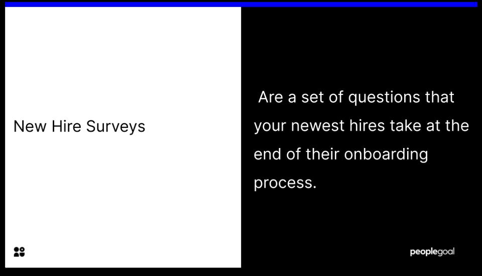 new hire surveys - definition