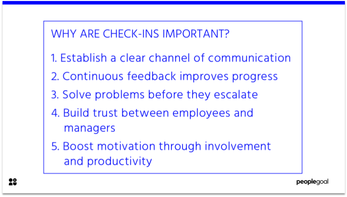 Check-ins are Important - Performance
