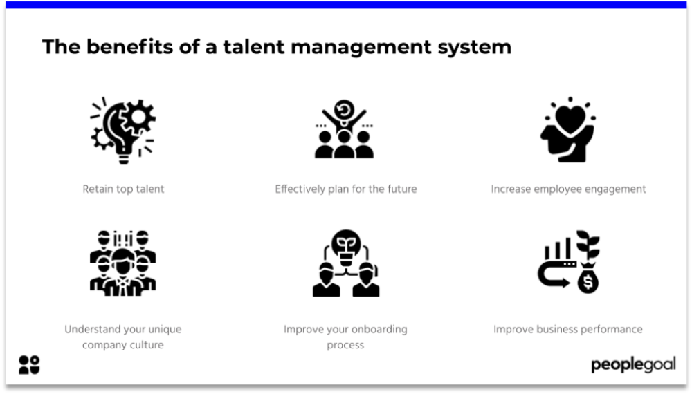 Benefits of a talent management system