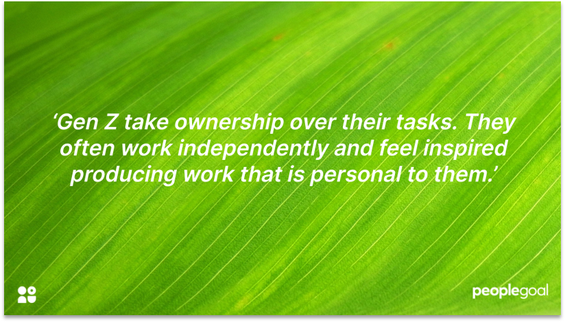 Next Gen Workers and Personal work quote