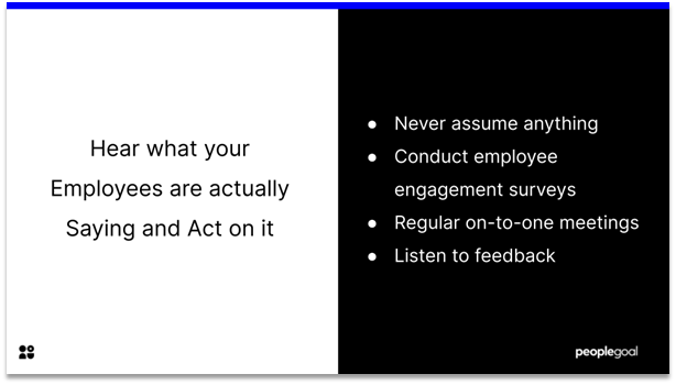 Connected Employees - hear what your employees are saying and actually act on it