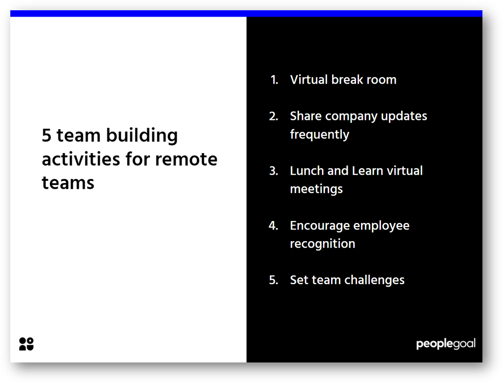 Remote workers team building