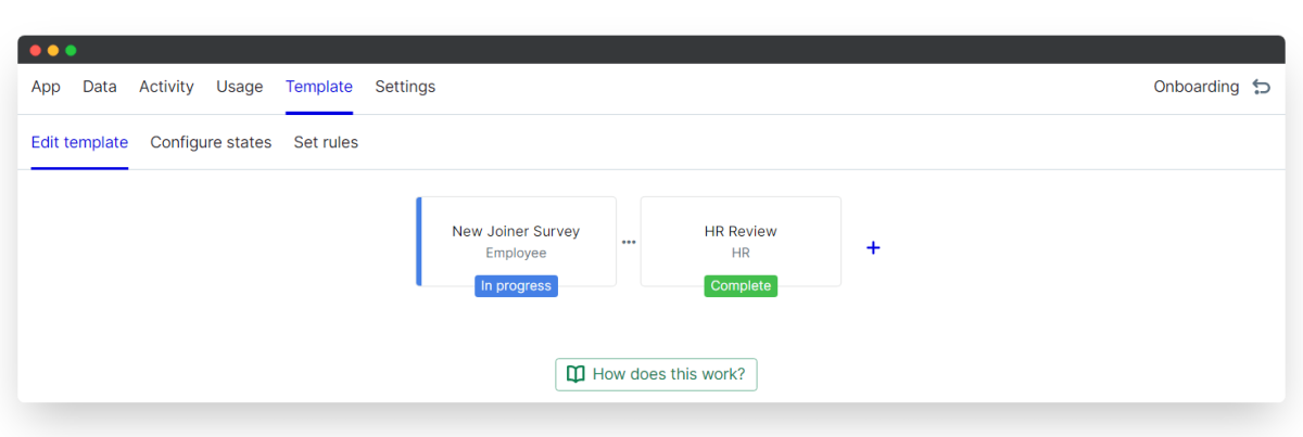 new joiner survey - edit template