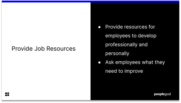 Employee Engagement - job resources