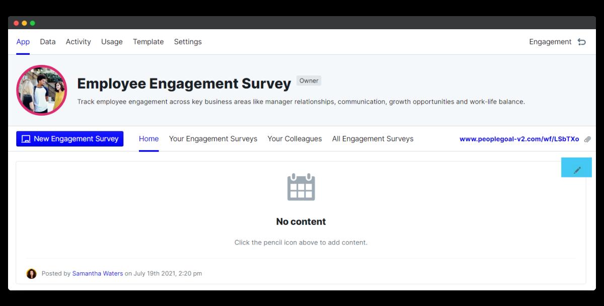 employee engagement survey - edit schedule