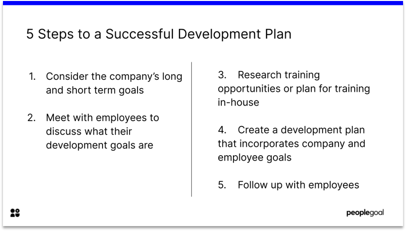 5 steps to a successful development plan
