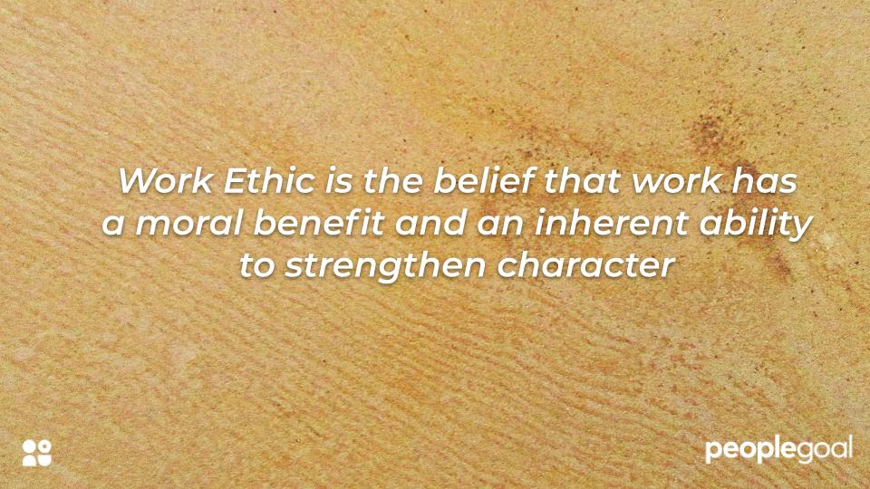 Work Ethic Definition