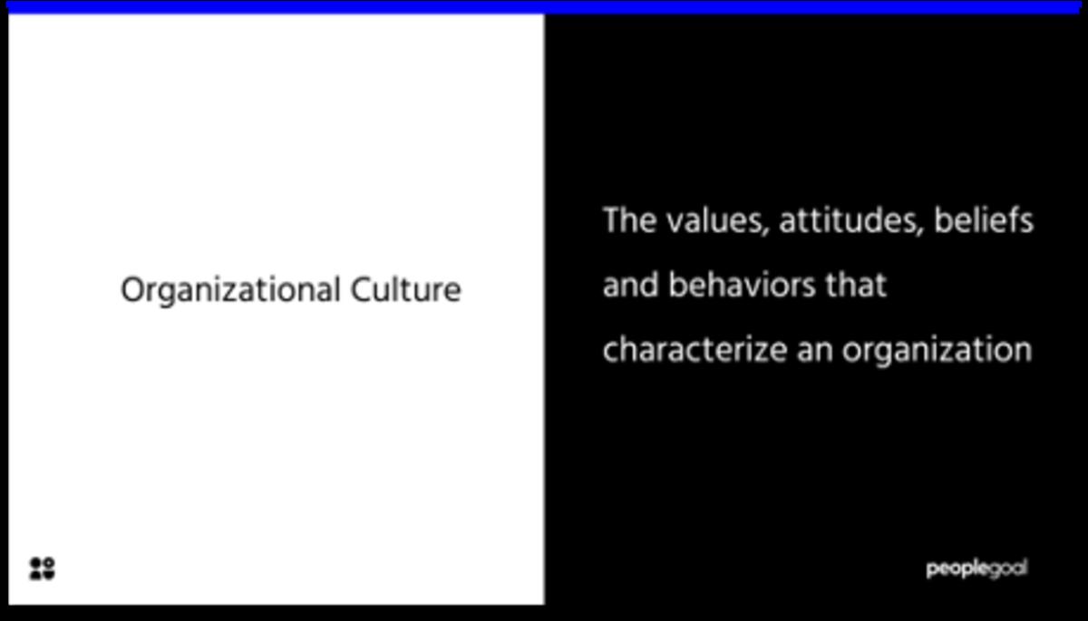 Organizational culture definition