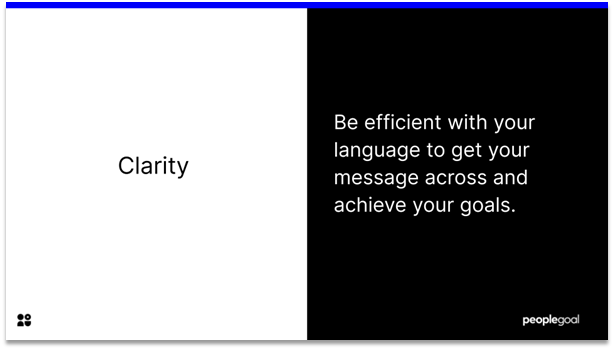Communication - Clarity