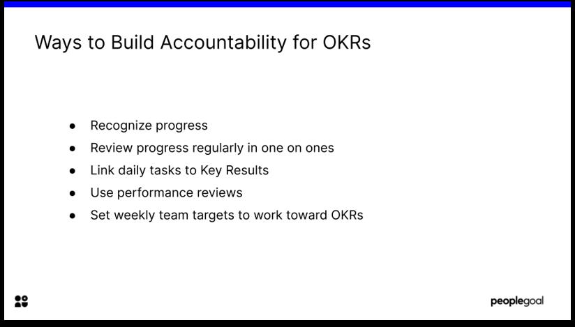 Accountability and OKR Progress