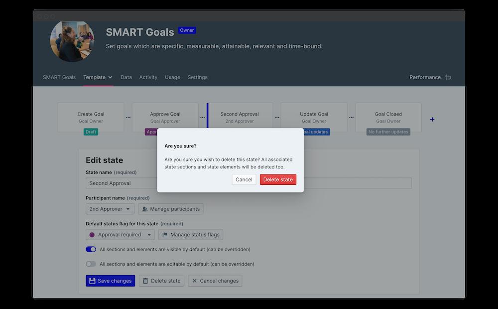 smart goals template permissions delete state