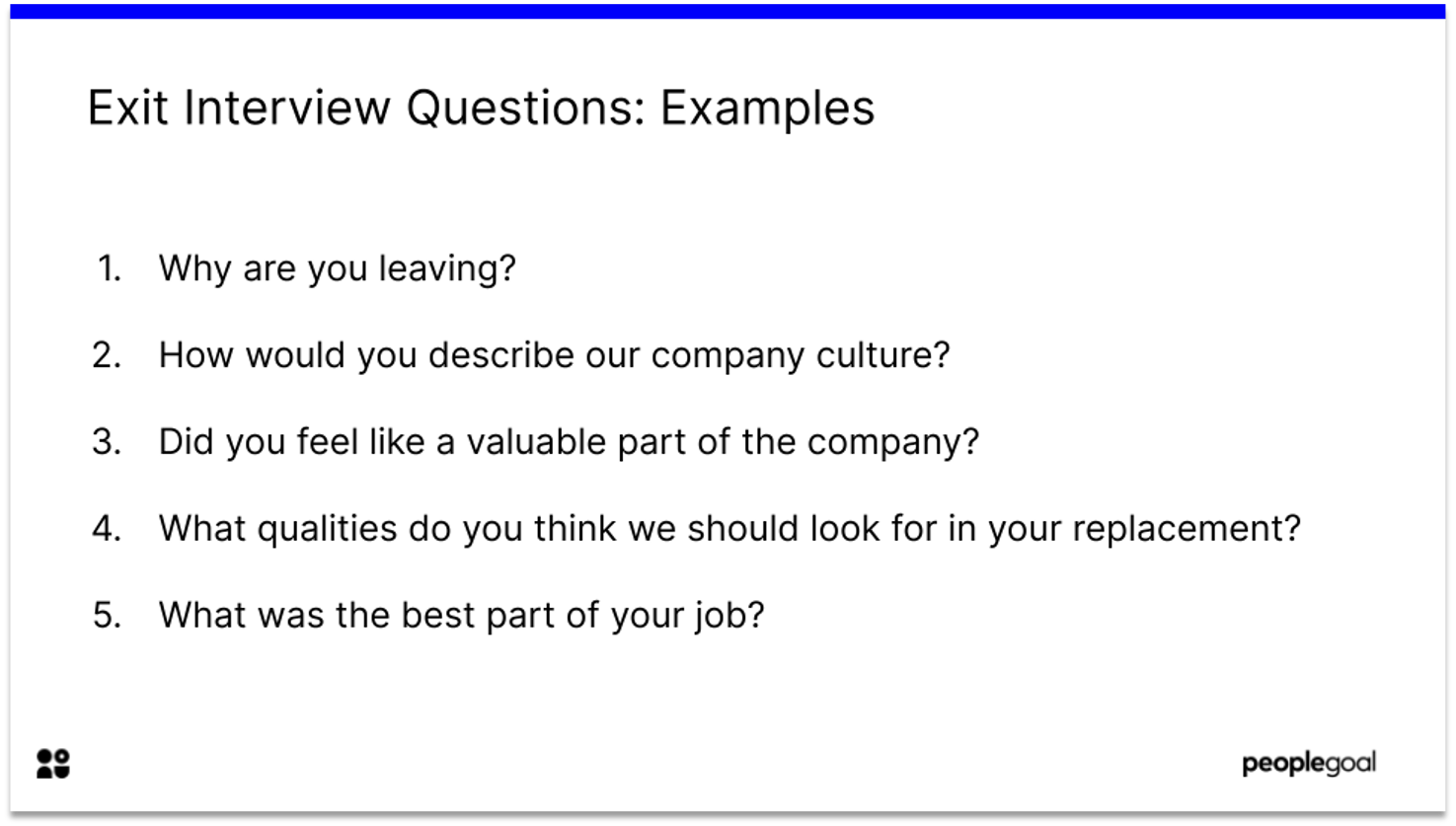 Exit Interview Questions Examples