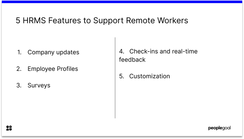 5 HRMS Features for Remote workers