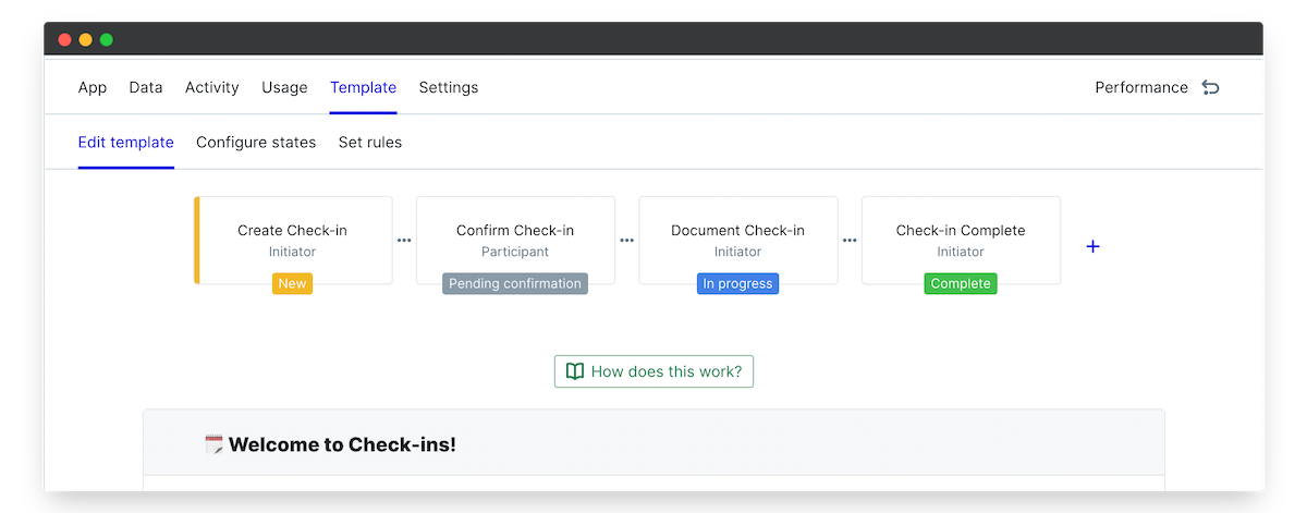 employee manager check in edit template