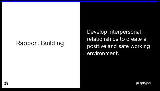 Communication - Rapport Building