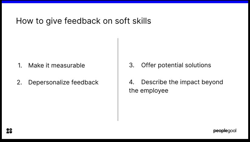 Constructive Feedback on Soft Skills
