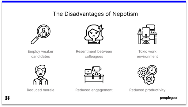 Nepotism - the disadvantages