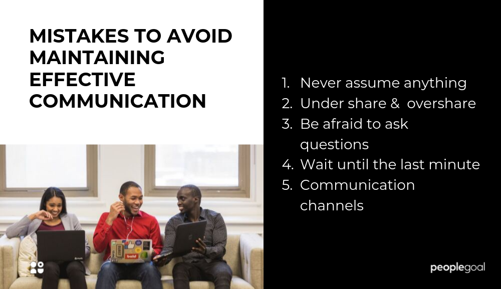 Mistakes to avoid maintaining effective communication