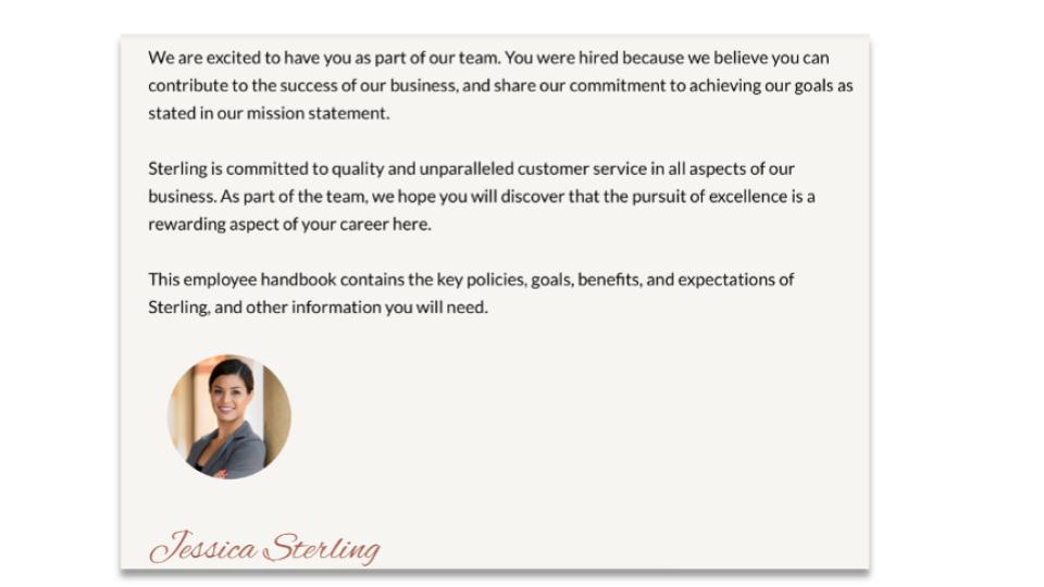 Employee Handbook - STERLING
