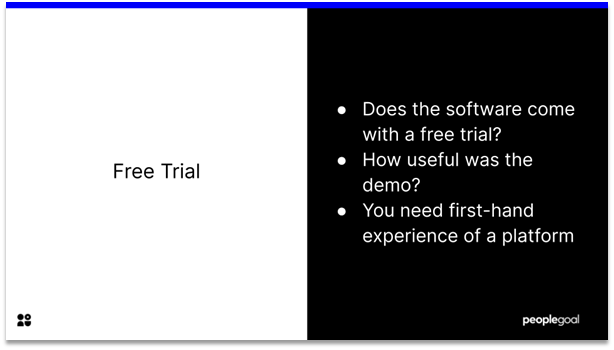 Performance Management Software - free trial