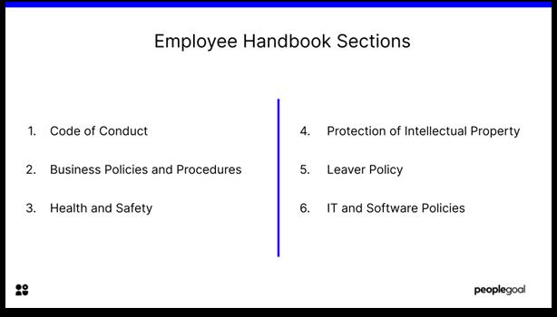 Employee Handbook - employee handbook sections