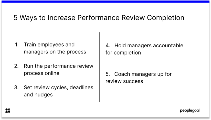 5 Ways to Improve Performance Review Completion Rates