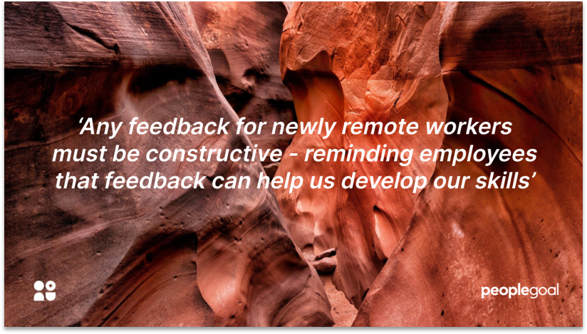 Feedback for remote workers during performance planning