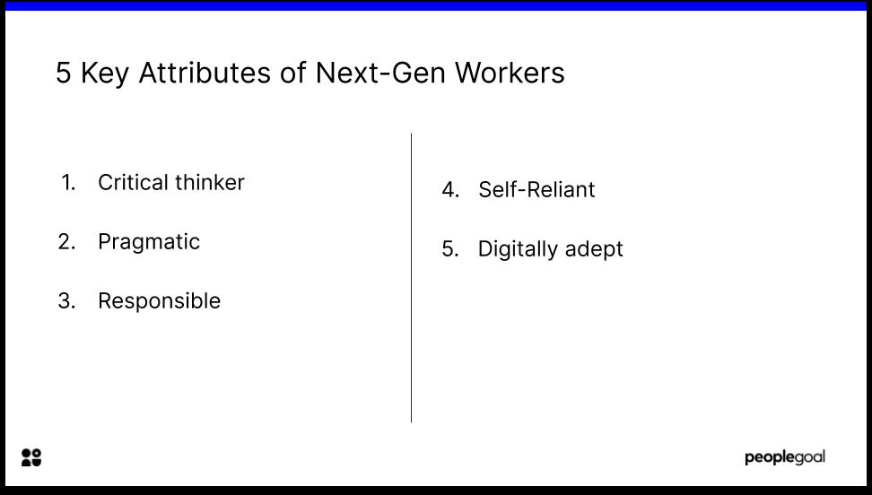 5 Key Attributes of Next Gen workers