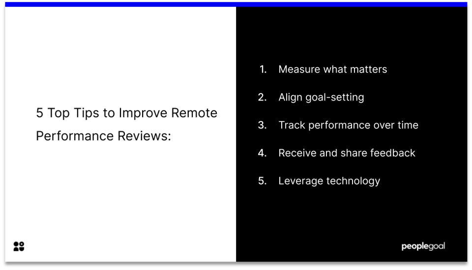 5 tips to improve remote performance reviews