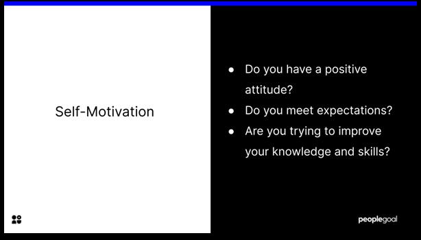 Self-Evaluation - Self-Motivation