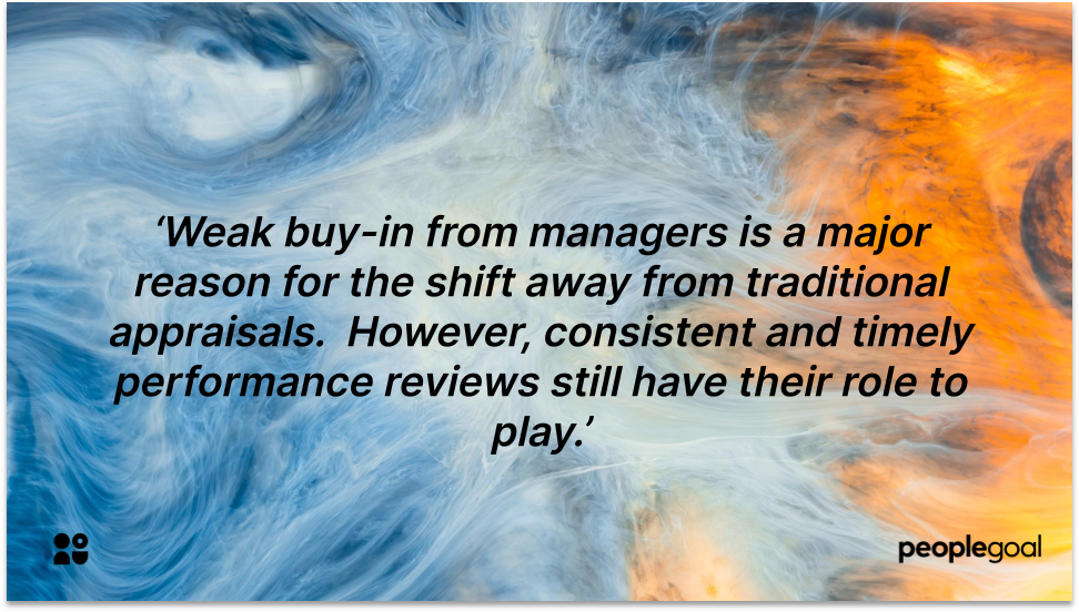 Manager Buy In for performance review completion rates