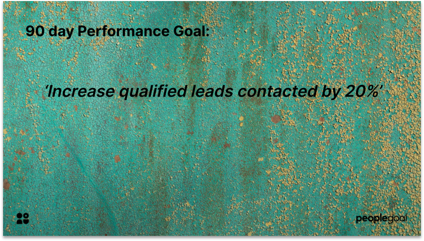 Performance Goals example