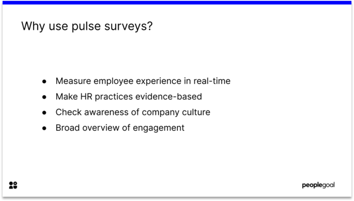 Pulse surveys for Employee experience