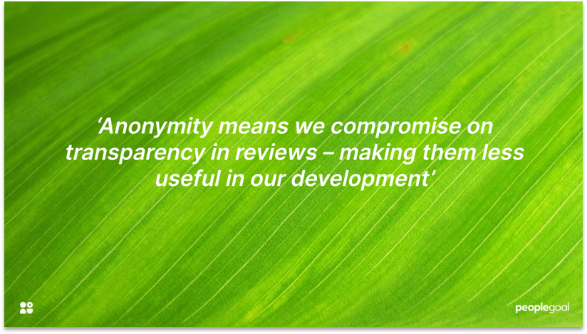 360 Performance Reviews and Transparency