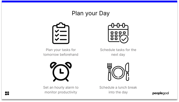 Effective at Work - plan your day