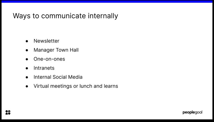 Internal Communications Methods
