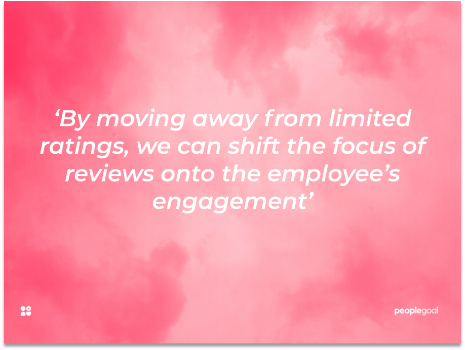 Quotation people goal performance reviews engagement