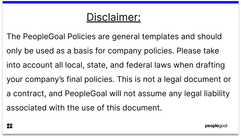 anit-harassment policy disclaimer