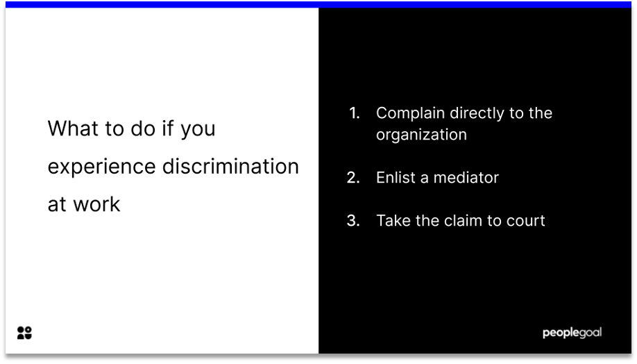 discrimination definition what to do if you experience discrimination at work