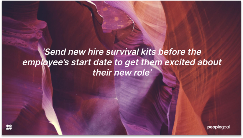 New Hire survival kits for employee onboarding