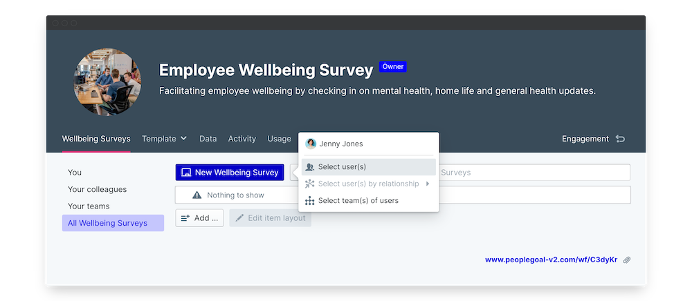 wellbeing survey launch