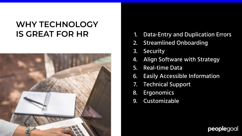 9 Benefits of Technology for your HR Department