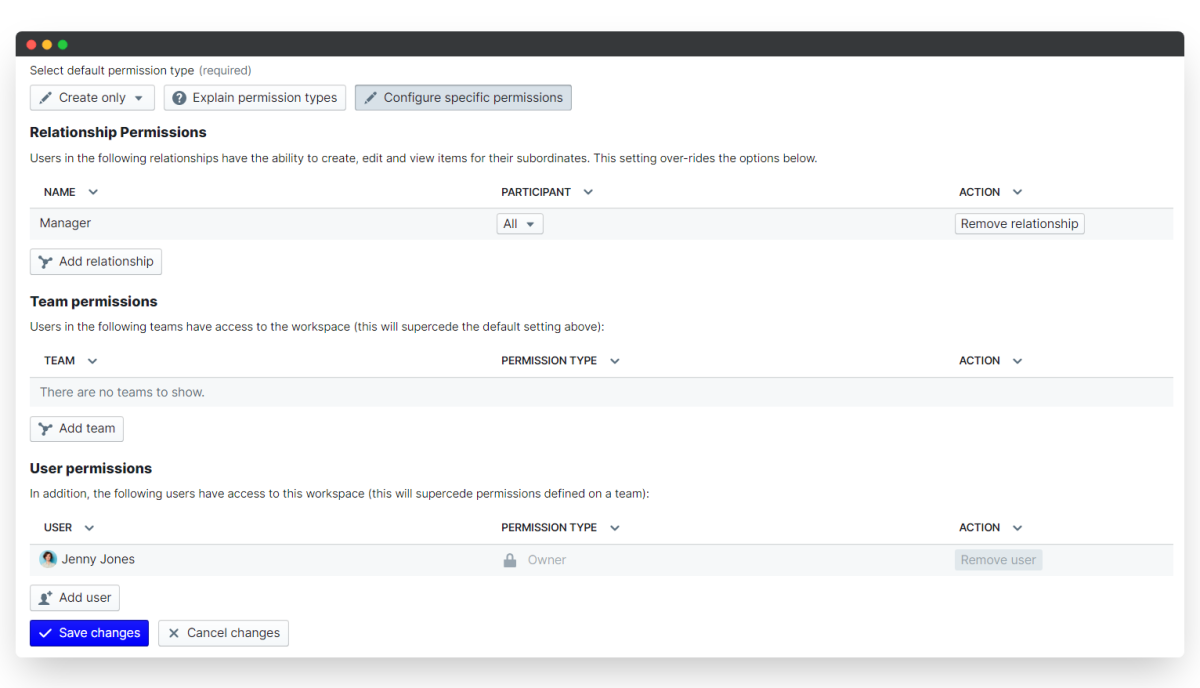360 feedback - configure permissions