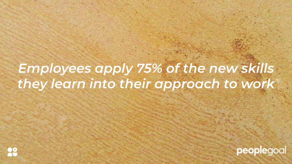 workers apply 75% of skills they learn