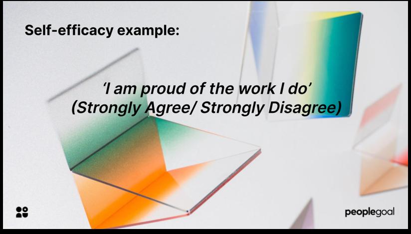 Self Efficacy example engagement survey