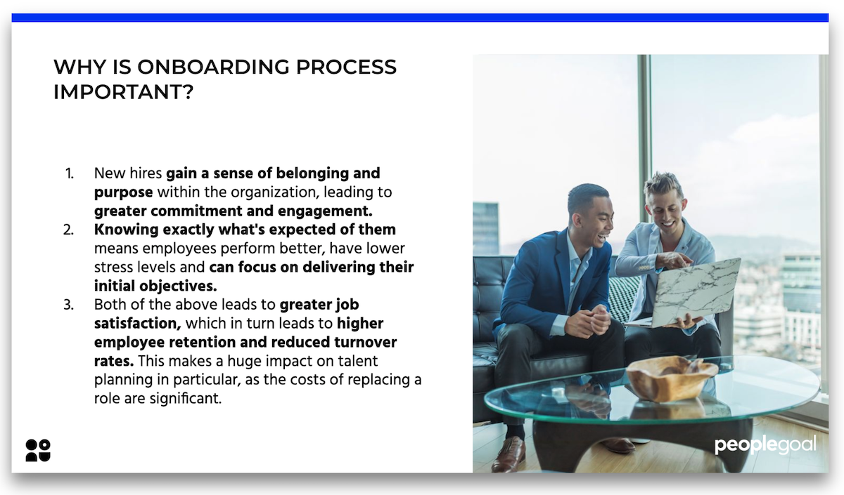 Why is onboarding process important