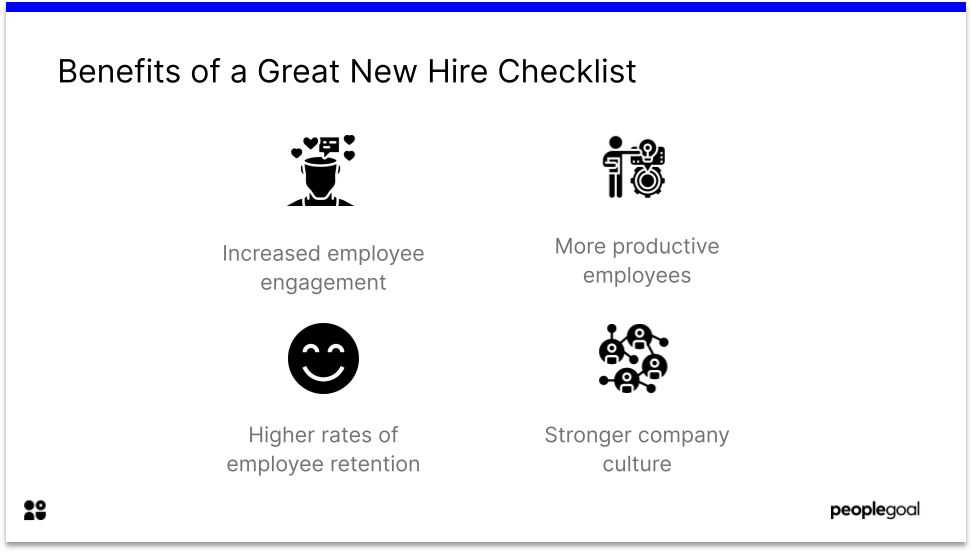 Benefits of a great new hire checklist